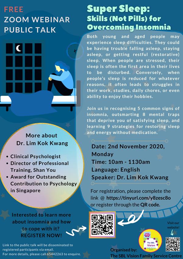 Past Event: Super Sleep: Skills (Not Pills) for Overcoming Insomnia